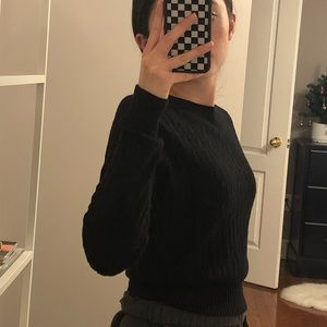 Sweaters - Black knitted sweater